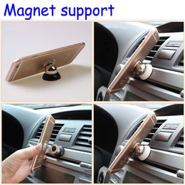 Wholesale Rotatable Magnetic Car Mount Holder For Samsung Accessories GPS Stent For Iphone Stand Support Magnetic Cell Phone Car Holder