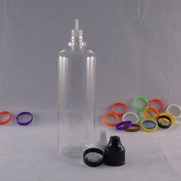 Free Shipping E liquid Pet Bottles 60ml transparent Pen Shape Unicorn Bottle E juice Plastic Dropper Bottles Childproof Twist Off Caps