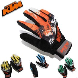 2016 New spring and autumn KTM outdoor riding full finger gloves motorcycle racing gloves slip bike riding gloves have 4 kinds colors