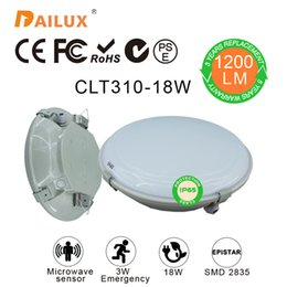 Wholesale Modern surface mounted round W Led ceiling lights Microwave sensor W Emergency Ø310 mm led ceiling years warranty