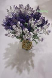 Wholesale Purple Fake Plants Artificial Bouquet Roll Lavender Leaves Grass Wedding Garden Party Realistic Floral Decor Silk Flowers Artist Arrangement