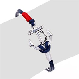 Wholesale New hot pirate nautical navy anchor bracelets small fragrant wind simple woven bracelets
