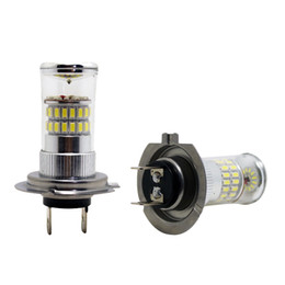 LEEWA 12V DC Car Superb Bright White H7 48SMD 3014 Fog LED Lights Bulb Lamp #4670