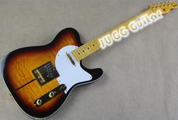 Wholesale Drop Shipping Custom Shop Telecaster Guitar Merle Haggard Signature Tuff Dog Tele Sunburst Electric Guitar Gold Hardware Flame Maple Top