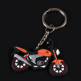 Wholesale PVC soft plastic phone charms ornament auto parts motorcycle car cartoon lanyard key chain charms Environmental protection fashion key chain