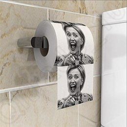 Wholesale Hillary Clinton Toilet Paper obama donald trump Hillary s Face Roll Paper Party Gag Gift Prank Joke OOA427