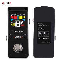 Wholesale New Arrival High Quality AROMA AT Mini Single Electric Guitar Effects Mini Chromatic Tuner Guitarra Effect Pedal