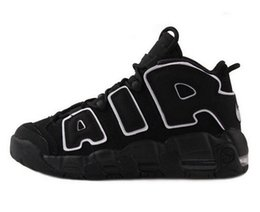 Wholesale High Quality MENS and womens Air More Uptempo OG Scottie Pippen White Gum Olympic Gym Red Basketball Shoes size