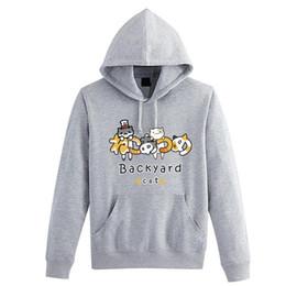 Wholesale Hot Game Neko Atsume collection sport hoodie casual backyard cat coat halloween cosplay clothing Costume