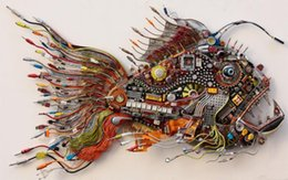 Wholesale wire detail fish hi tech Home Decor Canvas Poster Print x36 inch Silk Poster wall decor