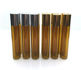 Factory Price 10ml Brown Glass Essential Oil Roller Bottles with Stainless Steel Roller Balls, for Perfumes Glass Bottles