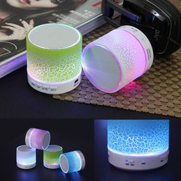 A9 Speaker Colorful Portable LED Mini Wireless Bluetooth Speaker Music Player Subwoofer Stereo with TF card for Smartphone with retail box
