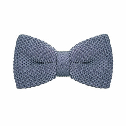 Men's Tuxedo Adjustable Grey Bow Tie Party Business Casual cotton Bow Tie Gift Box Men's Fashion Accessories F-313
