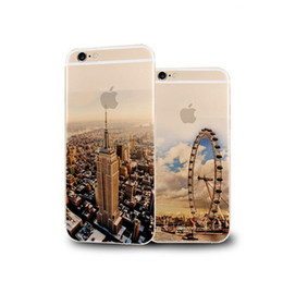 Wholesale Newest Fashion Ultra Thin Soft Silicone TPU Beautiful Mountain City Tower Ocean Scenery London Eye Phone Case for iPhone s s s plus
