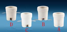 E27 Ceramic Lamp Holder   screw Light Lampholders Socket For LED Light Via DHL