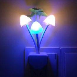 Wholesale Avatar mushroom light colorful LED optical small night light lamp bedside lamp nursing