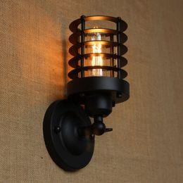 Wholesale industrial Portuguese style antique black mini wall lamp swing arm wall lighting for workroom Bathroom Vanity Tornado