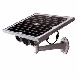 Wholesale Solar Powered Ip Camera Wireless - Newest third generation 720P Star light Sensor CCTV Solar panel power wifi IP camera P2P wireless security solar camera