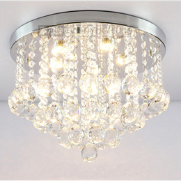 Wholesale Round K9 Crystal Ceiling Light Droplights Silver Chrome Ceiling Pendant Light Chandelier Fitting Lamp crystal light variety