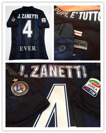 Serie A 13 14 JC4 EVER Zanetti retire Match Worn Player Issue Shirt Jersey Short sleeves shirts