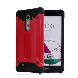 Wholesale Red Cell Phone Cases for LG G4 G5 K10 V10 S770 Steel Armor Shockproof Sturdy Avoid Breaking TPU PC Cell Phone Cases