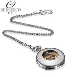 Wholesale Mechanical Pocket Watch Antique Style Silver Quartz Pocket Watch Chain Valentine Day s Gift