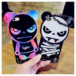 Creative Design Cell Phone Cases Panda Like Punk Cats Phone Covers with Soft TPU for iphone 6s 6plus 39