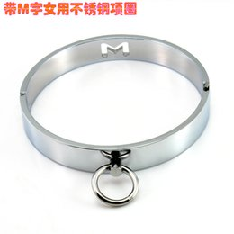 Wholesale Davidsource Stainless Metal Lockable Neck Collar For Women Twink Restraint Locking Slave BDSM Costume Sex Product Adult Sex Toy