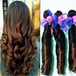 Brown Ombre Funmi Hair Brazilian Double Drawn Funmi Hair, 8A Two Tone Ombre Aunty Funmi Hair Weave Weft Extensions,