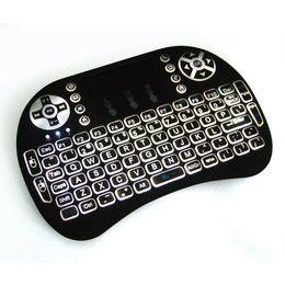 Wholesale Wireless Laser Keyboard Air Mouse Backlight New RII I8 G wireless Gaming Keyboards Slim Bluetooth Keyboard