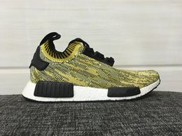 Wholesale With Box New Arrivals NMD R1 Runners Primeknit Mens and Womens Fashion Shoes Size US5 Free Drop Shipping