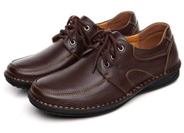 genuine leather he manual car suture men leather shoes men's shoes Business casual leather shoes, soft bottom single men's shoes