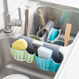 Wholesale hot sale Cute Kawaii Kitchen Portable Hanging Drain Bag Drain shelf Basket Bath Storage Gadget Basket Bath Storage Tools Sink Holder