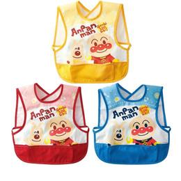 Wholesale Vest baby bib baby bibs waterproof anti wear gowns eat rice pocket bibs Superman