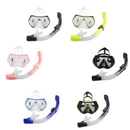 Promotion poissons de silicone pour la pêche Professional Scuba Diving Masque Snorkel Anti-Fog Goggles Lunettes Set Silicone Natation Pêche Piscine Équipement 6 Couleur 2016 en gros2506017