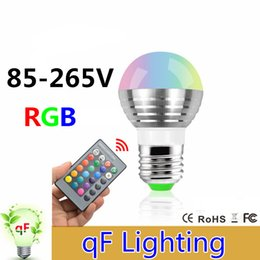 Wholesale E27 E14 Colors Changing W V magic RGB LED Lamp Stage DJ Light Dimmable RGB Bulb key IR Remote Control lighting