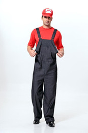 Super Mario clothing male delivery Courier costume overalls Halloween party overalls game uniform