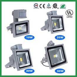 NEW PIR Infrared Motion Sensor Led Floodlight Outdoor Floodlight Lamp 10W 20W 30W Waterproof IP65 led Flood Light for Garden led spotlight