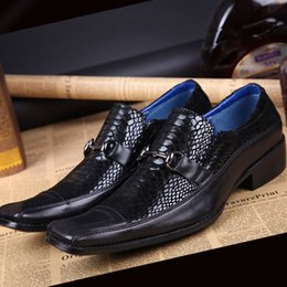 Men shoes real leather Hombre Zapatos square toe men business wedding party dance shoes free shipping