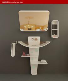 Wholesale Creative bathroom ark Marble sink cabinet
