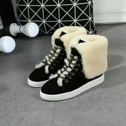 Wholesale New Winter Style Fashion Brand P Genuine Leater one fur Warm Female Boots Women PD Shoes