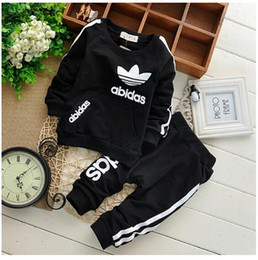 Wholesale New Boys Casual Tracksuits Spring Autumn Long Sleeve Korean Coat Pants Suit Sets Kids Outfits Children s Clothing Set Black