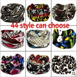 Wholesale DHL Women Men Outdoor Multi Color Bib Scarves Ring Bandana Seamless Tubular cm Anime Bandanas Tube Scarf Baby Luxury Headband ZJ S01