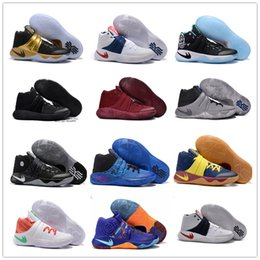 2016 Hot Sale Kyrie Irving 2 Men's Basketball Shoes Kyrie2 Champion Edition Grey Wolf Samurai Star Irving2 Sports Training Sneakers 40-46