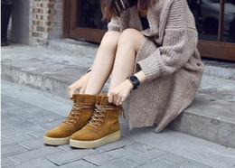 Wholesale Light Motorcycle Shoes - 2016 New Ladies shoes. Winter shoes. Martin boots. Warm shoes. Motorcycle boots. Thick base. Add wool. Short boots. Fashion casual shoes.