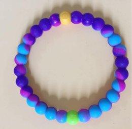 Wholesale 33colors Mix Size S M L XL beads bracelet seaside memorial Silicone bracelet with Tags SB089