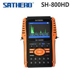 [Original] Salida Sathero SH-800HD DVB-S2 Satélite Digital Buscador de medidor SH-800 USB2.0 HDMI Sat buscador de alta definición con analizador de espectro para $ 18Nadie hd sathero finder on sale desde buscador hd sathero proveedores