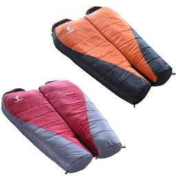 Wholesale Water resistant Outdoor Camping Hollow Fiber Double Layers Adult Sleeping Bag Winter Folding Thermal Sleeping Bag Mummy Style