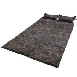 Outdoor Camping Self-Inflating Air Mat Mattress Pad Pillow Hiking Sleeping Bed