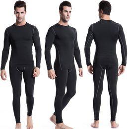 Descuento trajes de cuerpo de spandex al por mayor Los juegos del deporte-hombres al por mayor para hombre de las medias de nylon de funcionamiento establece spandex cuerpo en forma de fitness de yoga camiseta, pantalones para hombres ejecutan ropa de atletismo